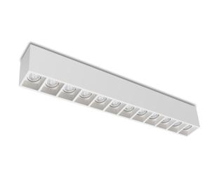 PLAFONIERA RETTANGOLARE IN GESSO 12 MICRO SPOT GU10 LED