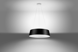 LAMPADARIO NERO LED DIMMERABILE 36W 3000K MODERNO