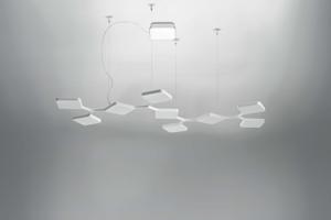 LAMPADARIO LED 91W BIANCO DESIGN MODERNO PER UFFICIO