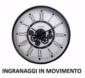OROLOGIO DA PARETE VINTAGE CON INGRANAGGI IN MOVIMENTO 54CM
