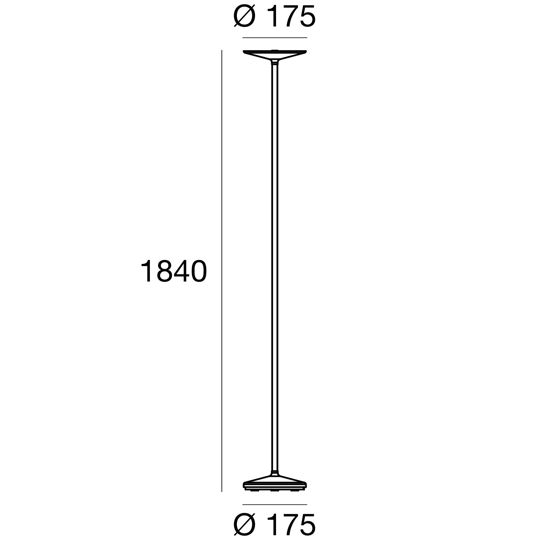 LINEA LIGHT POE PIANTANA LED 25W 3000K MODERNA BIANCA DESIGN MINIMAL