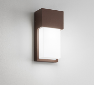 ISYLUCE APPLIQUE DA ESTERNO IP54 CORTEN MARRONE MODERNA E27 LED