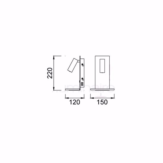 APPLIQUE CAMERA DA LETTO MODERNA USB ORIENTABILE BIANCA MULTIFUNZIONE