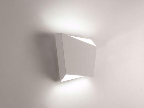 APPLIQUE LED DESIGN MODERNA PARTICOLARE METALLO BIANCO