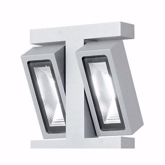 LAMPIONE DA ESTERNO FARETTI ORIENTABILI LED 3W IP54 CALDA DESIGN MODERNO GRIGIO