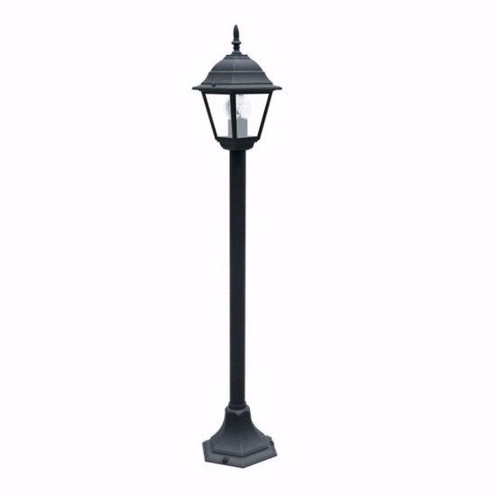 LAMPIONCINO CLASSICO PER GIARDINO ESTERNO ALLUMINIO NERO IP44 E27