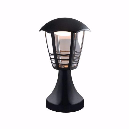 PICCOLO LAMPIONE NERO PER ESTERNO VIALETTI IP44 LED 12W 4000K