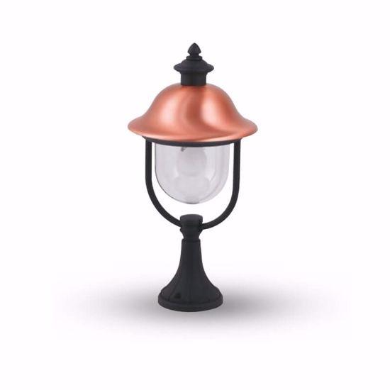 LAMPIONCINO PER ESTERNO BASSO IMPERMBEABILE IP44 ALLUMINIO RAME