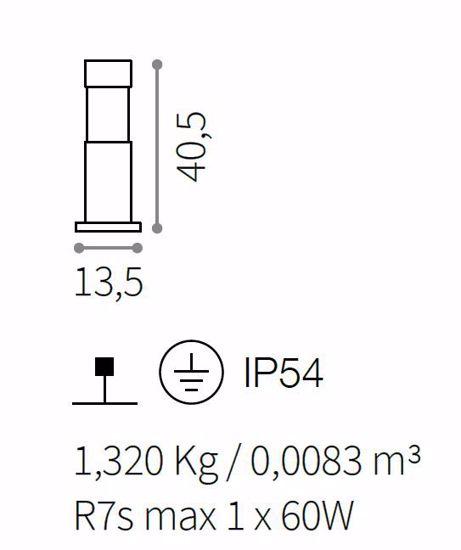 LAMPIONCINO BASSO DA GIARDINO ESTERNO ANTRACITE H40 IP54 MODERNO