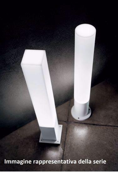 LAMPIONE PER ESTERNO GIARDINO TUBOLARE IP44 MARRONE MODERNO