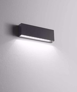APPLIQUE DA ESTERNO LED 6W IP65 ANTI SALSEDINE GRIGIO ANTRACITE 4000K MODERNA