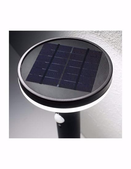 LAMPIONE BASSO DA ESTERNO LED ENERGIA SOLARE GRIGIO NICHEL SENSORE CREPUSCOLARE E RILEVATORE DI MOVIMENTO