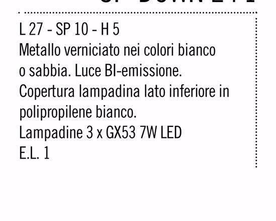 APPLIQUE LED RETTANGOLARE METALLO BIANCO LUMINOSO LAMPADINE GX53