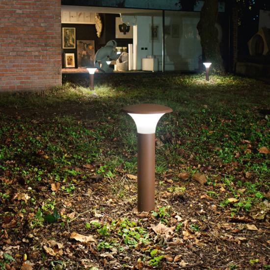LAMPIONE MODERNO PER ESTERNO GEA LUCE VIALETTO IP44 BIANCO IMPERMEABILE