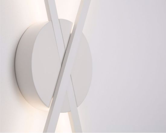 APPLIQUE LED DESIGN ORIGINALE 18W 3000K BIANCO DA PARETE PER INTERNI
