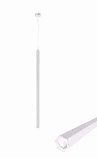 LAMPADARIO A SOSPENSIONE BIANCA DESIGN MODERNA LED 5W 3000K ESAGONALE
