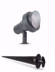 FARETTO DA GIARDINO IP65 CON PICCHETTO ORIENTABILE ANTRACITE E27 LED