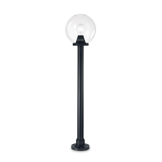 LAMPIONE NERO DA ESTERNO BOCCIA TRASPARENTE MATERIALE PLASTICO