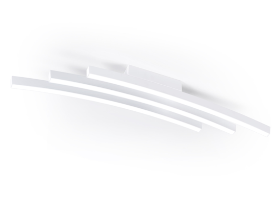 PLAFONIERA LED MODERNA PER SALOTTO BIANCA VIVIDA INTERNATIONAL BOW 80CM