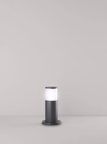LAMPIONE BASSO DA ESTERNO GIARDINO IP44 ANTRACITE MODERNO H30CM