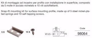 KIT DI FISSAGGIO 98064 PER PROFILO ALLUIMINOO STRIP LED