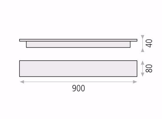 LUNGO APPLIQUE ORO LED 30W 3000K RETTANGOLARE DESIGN MODERNA