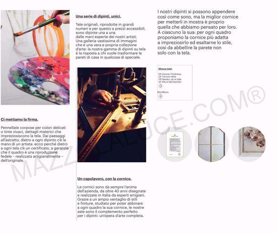 QUADRETTO DIPINTO ARTIGIANALE PIANTA 38X38 CORNICE DI LEGNO