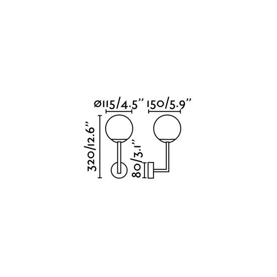 APPLIQUE DA BAGNO METALLLO ORO IP44 IMPERMEABILE MODERNA