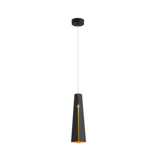 LAMPADA A SOSPENSIONE LED 6W PER PENISOLA CONO IN METALLO NERO E ORO