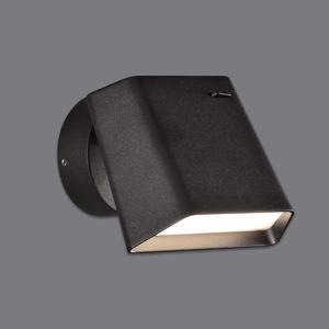 APPLIQUE DA CAMERA DA LETTO ORIENTABILE LED 6W 3000K METALLO NERO