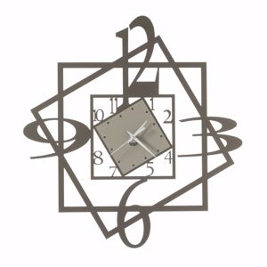 OROLOGIO MODERNO DA PARETE METALLO BRONZO-SABBIA FORUM ARTI E MESTIERI