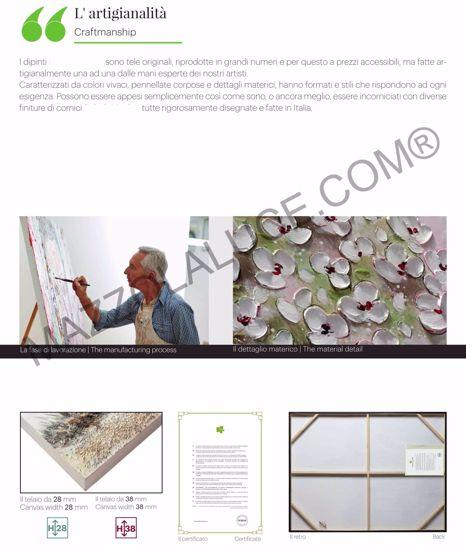QUADRO DIPINTO CESTO PIANTE COLORATE GRASSE 106X106 CORNICE DI LEGNO
