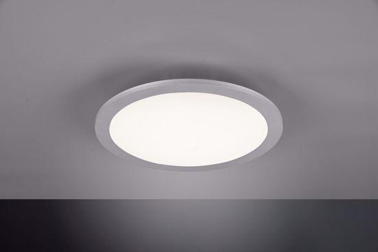 PANNELLO LED ROTONDO DIAMETRO 30CM GRIGIO 15W RGB DIMMERABILE PER UFFICIO