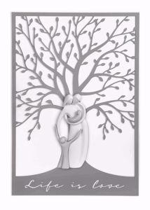 CAPEZZALE DESIGN MODERNO ALBERO DELLA VITA FAMIGLIA GRIGIO 105X72