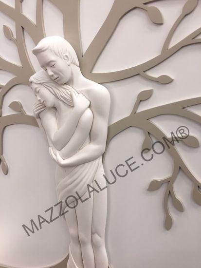CAPEZZALE LOVE INNAMORATI CAPOLETTO 48X70 NOCCIOLA ALBERO DELLA VITA VERTICALE