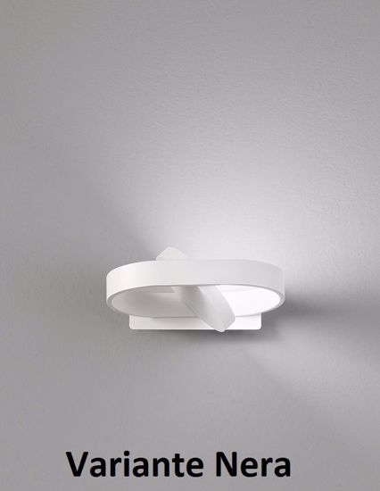 APPLIQUE LED ORIENTABILE 360 GRADI 6W 3000K 4000K 6000K METALLO NERO
