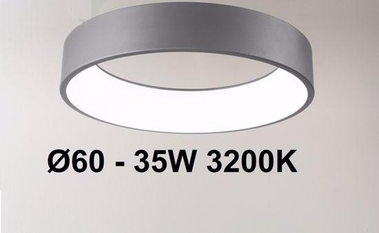 PLAFONIERA LED 35W 60CM GRIGIO ANTRACITE 3200K AFFRALUX BAND DIODI