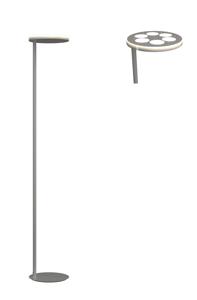 PIANTANA LUMINOSA LAMPADA DA TERRA GRIGIO N6 LAMPADINE GX53 LED MODERNA