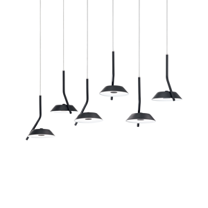 BARBY SP IDEAL LUX LAMPADARIO MODERNO BINARIO NERO LED 30W 3000K