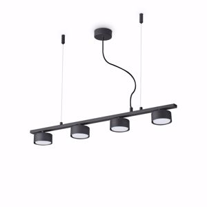 MINOR SP4 NERO IDEAL LUX LAMPADARIO MODERNO DA TAVOLO