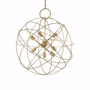 KONSE SP7 IDEAL LUX LAMPADARIO MODERNO SFERA METALLO ORO