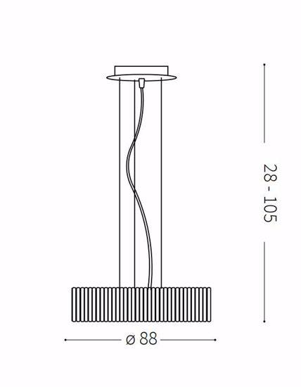 QUASAR SP12 IDEAL LUX LAMPADARIO DESIGN ANELLI VETRO PER SOGGIORNO