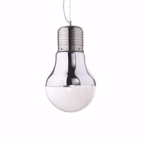 LAMPADARIO A SOSPENSIONE PER BAGNO LAMPADINA GIGANTE VETRO CROMO