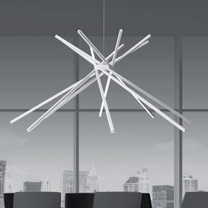 LAMPADARIO DESIGN MODERNO LED 50W 3000K BIANCO VIVIDA SHANG