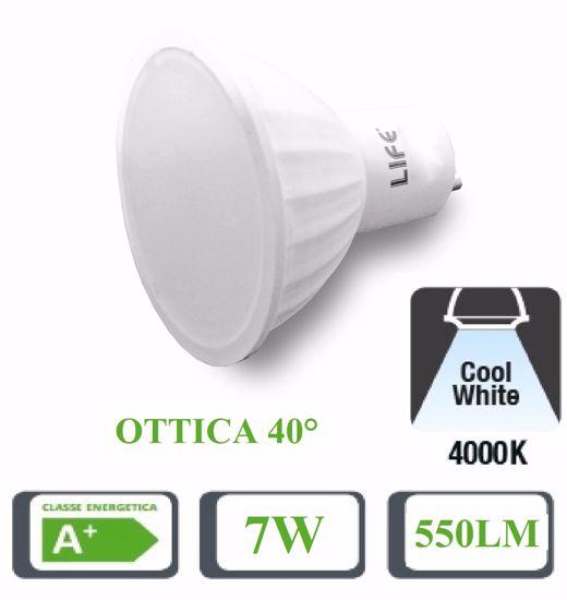 LIFE LAMPADINA LED GU10 7W 550LM OTTICA 40 GRADI 4000K 39.910234N