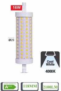 LAMPADINA LED R7S 16W 4000K 2100LM 118MM LIFE OTTICA 320 ATTACCO ASIMMETRICO
