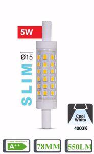 LAMPADINA LIFE R7S LED 5W 4000K SLIM 78MM 550LM TUBOLARE OTTICA 360 A++