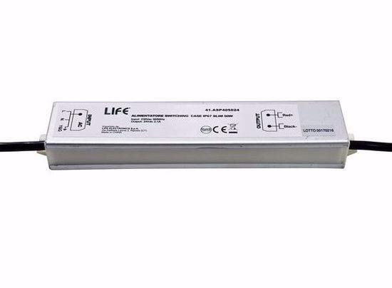 ACCESSORI PER STRIP LED LIFE ALIMENTATORE SWITC. CASE IP67 SLIM 24V 2,1A 50W INPUT 230 VAC
