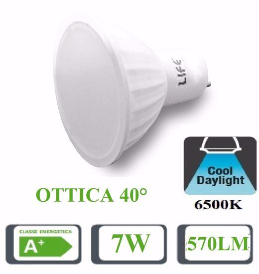 LIFE LAMPADINA LED 7W OTTICA 40 6500K 570LM BIANCA COD 39910234F