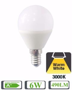 LIFE LAMPADINA LED 490LM E14 6W 3000K MINISFERA 39.920341C